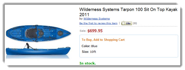 Wilson Systems Tarpon Kayak from Amazon.com