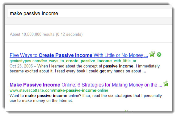 Make Passive Income Search Results