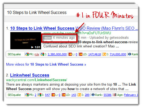 #1 Ranking in Google in Four Minutes