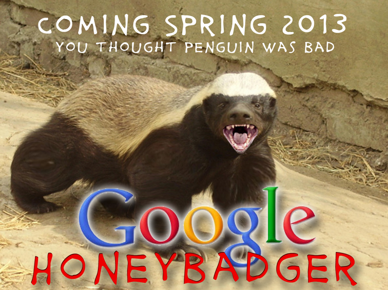 Google Honey Badger Update